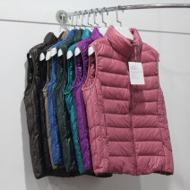 Down Jackets Autumn of 2019 Other / other S,M,L,XL,2XL,3XL,4XL White duck down 50% have cash less than that is registered in the accounts Sleeveless Thin money zipper stand collar commute Self cultivation Below 100g Ol style 18-24 years old polyester