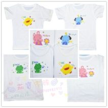 T-shirt Yellow chicken, green frog, blue dog, pink rabbit Xisong house 90cm,100cm,110cm neutral 2 years old