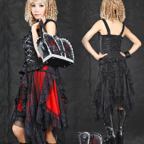 skirt Summer 2016 Average size Red, black longuette gorgeous Natural waist Irregular Solid color Type A 18-24 years old 81% (inclusive) - 90% (inclusive) Chiffon G.L.P  Gothic  Lolita&Punk nylon 161g / m ^ 2 (including) - 180g / m ^ 2 (including)