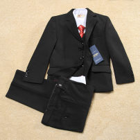 Suit / Blazer black Other / other male No model Korean version No season Solid color Single breasted routine Cotton blended fabric Class B Cotton 100% 602-9 Cotton liner