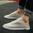Low top shoes White, black, beige 39,40,41,42,43,44 Other / other cloth Frenulum Round head skate shoes cloth Simplicity daily Solid color Flat heel spring and autumn rubber wear-resisting Adhesive shoes Sewing Low heel (1-3cm) cloth
