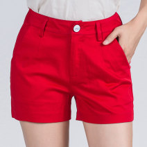 Casual pants White, black, red, khaki, green, light green, Dark Khaki, ginger S,M,L,XL,2XL,3XL,4XL,5XL Spring 2021 shorts Straight pants Natural waist commute routine 81% (inclusive) - 90% (inclusive) DK001 cotton Korean version pocket