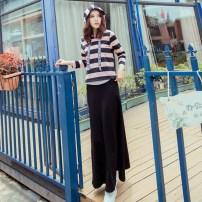 Fashion suit Fall 2017 S M L XL Pink black stripe (suit) pink black stripe (single coat) Fish surplus Cotton 95% polyurethane elastic fiber (spandex) 5% Pure e-commerce (online only)