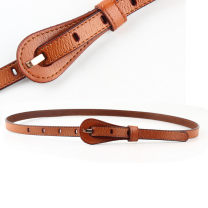 Belt / belt / chain Double skin leather White, red, black, brown, coffee female belt Youth, youth, middle age Pin buckle Glossy surface 1.3cm alloy alone