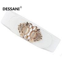 Belt / belt / chain cloth female Waistband Sweet Single loop a hook Diamond inlay soft surface 6cm alloy 65cm 70cm 75cm Summer 2016