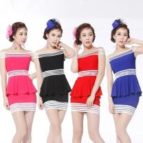 Dress Summer 2016 Average size Miniskirt singleton  Sleeveless Sweet One word collar middle-waisted Solid color Socket One pace skirt Breast wrapping 18-24 years old Type H Isabel 51% (inclusive) - 70% (inclusive) knitting polyester fiber solar system