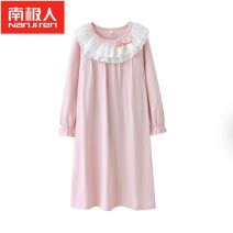 Home skirt / Nightgown NGGGN Cotton 100% spring and autumn female 11-13 years old or over 13 years old 1-3 years old 3-5 years old 5-7 years old 7-9 years old 9-11 years old Class B Pure cotton (100% cotton content) Spring 2017