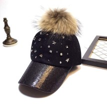 Hat Wool Black (fur ball) grey (fur ball) grey black M(56-58cm) Baseball cap Autumn and winter female leisure time Middle aged couple youth dome h415
