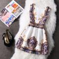 Dress Summer 2021 White, black, rose, red, pink, blue, 83,80,76,73,72,67,65,52,61,57,34,29,32,24,02,11,09,05 S,M,L,XL,2XL Short skirt singleton  Sleeveless commute Crew neck middle-waisted Decor zipper A-line skirt other straps 18-24 years old Type A literature Fold, zipper, print