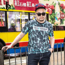 T-shirt Youth fashion Blue 1 routine 6XL Waynexzavier / Wayne Xavier WZ15C27691 Polyester 100% Sweat cloth Summer 2016 Pure e-commerce (online only)