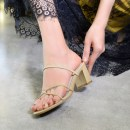 Sandals 31 32 33 34 35 36 37 38 39 40 41 42 Apricot ribbons suggest shooting a yard larger, black ribbons and red ribbons Excellent women Superfine fiber Barefoot Thick heel High heel (5-8cm) Summer 2017 Elastic band Simplicity Solid color Adhesive shoes Youth (18-40 years old) rubber daily Low Gang