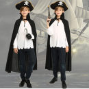 Clothes & Accessories Pang Wan Pirate hook suit pirate gun suit children's stand collar Cape Halloween Movie characters Pang Wan
