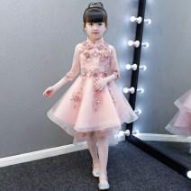 Children's dress female 100cm 110cm 120cm 130cm 140cm 150cm 160cm full dress Class B Polyester 100% Spring of 2018 2 years old, 3 years old, 4 years old, 5 years old, 6 years old, 7 years old, 8 years old, 9 years old, 10 years old, 12 years old, 13 years old, 14 years old