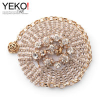 Belt / belt / chain Metal Silver Gold female Waist chain Sweet Single loop Youth, middle age and old age a hook Diamond inlay 1cm alloy rhinestone Yeko