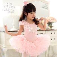 Children's performance clothes female 100, 110, 120, 130, 140, 150, 160 Silkily Class B Ballet Cotton 93% polyurethane elastic fiber (spandex) 7% Pure cotton (100% content) 2, 3, 4, 5, 6, 7, 8, 9, 10, 11, 12, 13, 14 years old Korean version