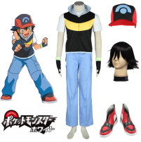 Cosplay men's wear suit Customized akiba1st Over 14 years old S. M, XL, 2xs, customized, children s, XS, l, 3XL, 2XL, children L, character wig, shoes (remark size) comic Average size Japan Magic Baby / Pokemon series Otaku department, campus style Xiaozhi