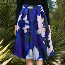 skirt Summer 2015 S Magnolia blue Middle-skirt Sweet Natural waist other Decor 25-29 years old H0141C02031 More than 95% other Holiday lady polyester fiber Polyester 100% Bohemia