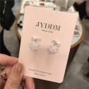 Ear Studs Synthetic cubic zirconia / water drill 51-100 yuan Other / other Rose gold and silver brand new Japan and South Korea female goods in stock Online gathering features Alloy inlaid artificial gem / semi gem Eight hundred and eighty-five