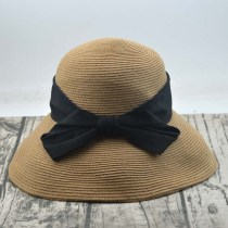 Hat Straw New to orange bow-colored khaki M(56-58cm) Spring, Summer, Autumn straw hat Female Casual Dome Middle-aged youth Bow tie 15-19 years old 20-24 years old 25-29 years old 30-34 years old 35-39 years old 7-14 years old 40-59 years old Daqi Travel