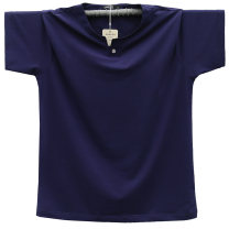 T-shirt Fashion City White, light gray, black, sapphire blue, fluorescent green, dark gray, orange thin M,175/(L),180/(XL),185/(XXL),190/(XXXL),195/4XL,5XL Steed lion Short sleeve V-neck easy daily summer SKS-5605 Cotton 95% polyurethane elastic fiber (spandex) 5% Large size routine other 2018 cotton