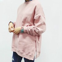Sweater / sweater Spring of 2019 Light gray, black, dark pink, cherry powder One size fits all (thick cashmere spot), one size fits all (thin cashmere spot), one size fits all (Terry spot) Long sleeves routine Socket singleton  routine Crew neck easy street routine Solid color 30-34 years old cotton