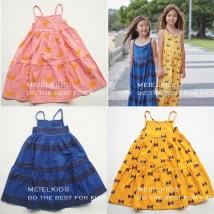 Dress Pink sun yellow bow tie, blue stripes 12-18m 18-24m 2-3y 4-5y 6-7y 8-9y 10-11y Other/others organic cotton Female All seasons Wild Dresses/Vests Pure cotton (100% cotton content) Class A