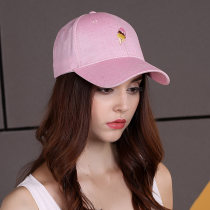 Hat polyester fiber Lake blue sky blue off white dark pink light pink One size fits all (56-58cm) Baseball cap Autumn and winter female Young couple