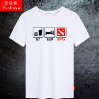 T-shirt Youth fashion routine S M L XL XXL XXXL XXXXL Yu Shuya Short sleeve Crew neck easy daily summer Cotton 100% youth routine tide Knitted fabric Summer 2016 Cartoon animation printing cotton game tto  Pure e-commerce (online only) More than 95%