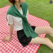 Scarf / silk scarf / Shawl other spring and autumn female Shawl multi-function Korean version other student Solid color other Other / other