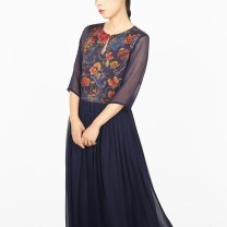 Dress Summer 2017 Blue, red M,L,XL transboundary