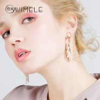 Earrings Alloy / silver / gold 51-100 yuan Jimele / qimili Tms141 imitation pearl brand new female Japan and South Korea goods in stock Fresh out of the oven other other TMS141 Spring of 2018 no Exclusive to tmall (only sold in tmall)