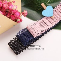 Other DIY accessories Other accessories other RMB 1.00-9.99 4 colors 1 Size 18mm elastic lace Korean pink 1 Size 18mm elastic lace dark blue 1 Size 18mm elastic lace black 1 Size 18mm elastic lace silver grey 1 Size brand new Fresh out of the oven Laxiaoyu Lala 25 Korean elastic lace