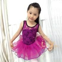 Children's performance clothes Fuchsia short sleeve female L,XL,2XL,3XL,4XL,5XL,6XL Other / other Ballet Korean version