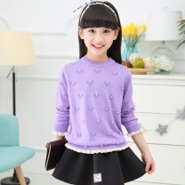 Sweater / sweater other female Rose red, pink, yellow, purple, light pink Other / other princess There are models in the real shooting Socket Thin money Crew neck nothing Ordinary wool Solid color Other 100%