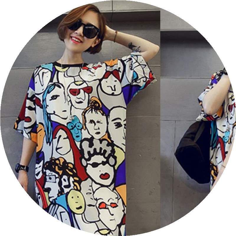T-shirt Picture color Summer of 2018 Short sleeve Crew neck easy Medium length routine commute cotton 86% (inclusive) -95% (inclusive) 18-24 years old Korean version originality Cartoon animation 3D, printing