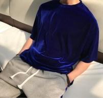T-shirt Youth fashion Black, dark blue routine Average size Others Short sleeve Crew neck easy Other leisure summer