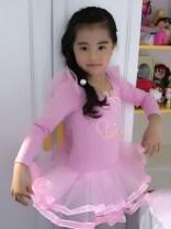 Children's performance clothes Pink (long sleeve) female 100cm,110cm,120cm,130cm,140cm,150cm,160cm Other / other Ballet Pure cotton (100% content) Korean version