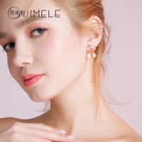 Earrings Alloy / silver / gold 51-100 yuan Jimele / qimili Tms116 silver needle pink ball brand new female Japan and South Korea goods in stock Fresh out of the oven other other TMS116 Spring of 2018 no Exclusive to tmall (only sold in tmall)