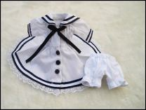 BJD doll zone Dress 1/6 Over 14 years old goods in stock Dark blue, white