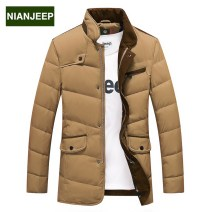 Down Jackets 9002 red (down jacket) Nianjeep / Jeep shield White duck down 175/92A Business gentleman routine 90% 150g (including) - 200g (excluding) Polyester 100% Winter 2017 Pure e-commerce (online only)