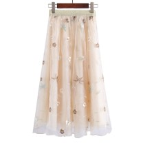 skirt Spring of 2019 Average size Black, apricot Middle-skirt Versatile Natural waist Pleated skirt Solid color Type A 25-29 years old 81% (inclusive) - 90% (inclusive) brocade Willful Diao Hu nylon 161g / m ^ 2 (including) - 180g / m ^ 2 (including)