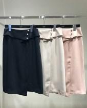 skirt Summer of 2018 XS/0,S/1,M/2,L/3,XL/4,XXL/5 Navy, beige, pink