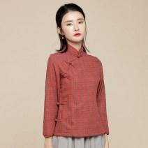 jacket Spring 2020 Yu Xiang cotton 96% and above Orange, grey S,M,L,XL,XXL