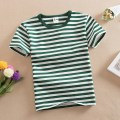 T-shirt Other / other male summer Short sleeve Crew neck No model nothing cotton stripe Cotton 95% polyurethane elastic fiber (spandex) 5% navy Class B Sweat absorption tassels