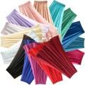 skirt Summer of 2018 Mid length dress Versatile High waist A-line skirt Solid color Type A Chiffon