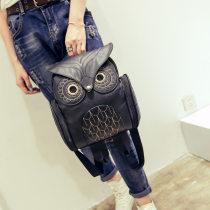 foreign trade Korean version PU Embossing owl Backpack   new pattern Women Cartoon animal knapsack travel trend Female bag