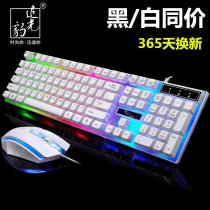 Light seeking Leopard G21 luminescence keyboard mouse suit   USB wired Backlight Mechanical feel game Electronic competition lol Internet Bar