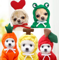 Medium dog Fruits puppy Kitty Autumn and winter Sweater fleece Clothing supplies Pets poodle Fadou Banana
