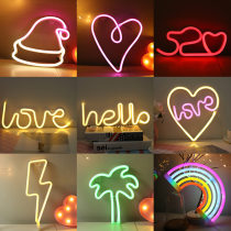 Amazon led The neon lights   love rainbow Flamingo hello room decorate originality LED light wholesale