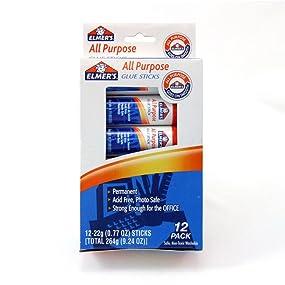 Elmer's All Purpose Glue Sticks (12 x 22g)